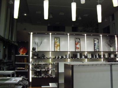 土産物店の行灯什器