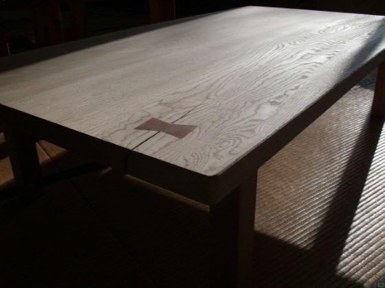 栗(くり)無垢の座卓1