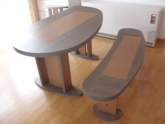 変形2WAYダイニングテーブル&ベンチ3