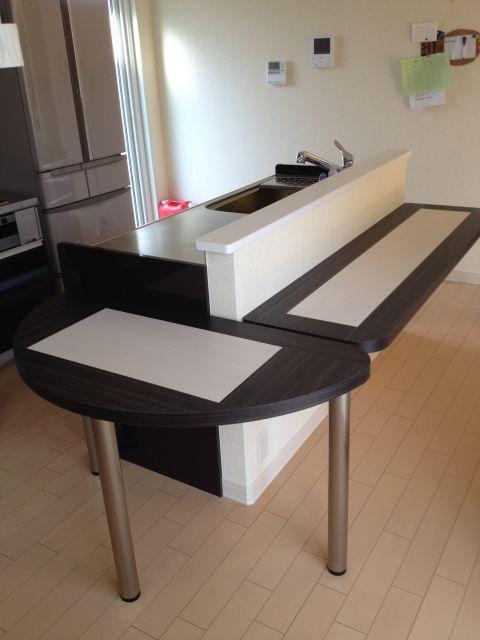 ダイニングテーブル&折りたたみカウンター1